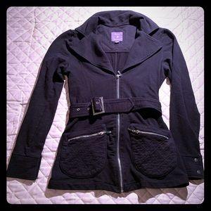 Black moto style cotton jacket
